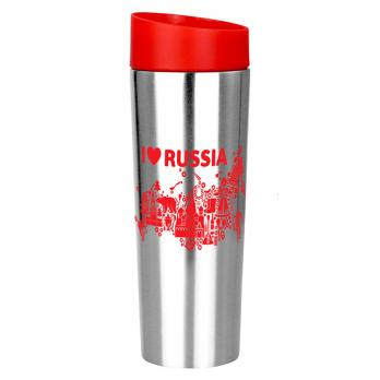 "Термокружка вакуумная 400мл РК-0406М ""I LOVE RUSSIA"""