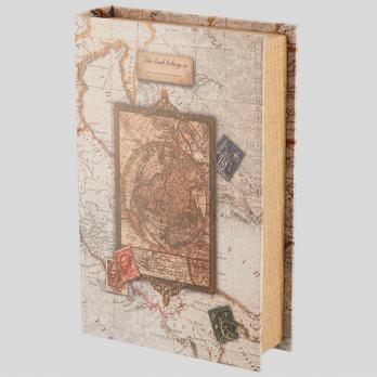 """Сейф-книга 24х16х5см СС0067/1 """"Остров сокровищ"""", замок с ключом, фото 2, сувенирный сейф"""