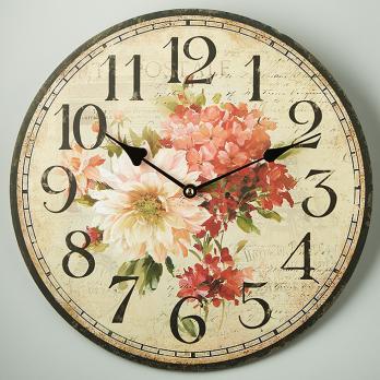 """Часы настенные """"Цветы прованс"""" круглые"""
