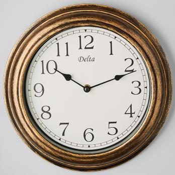 Часы настенные 30 см DT5-0007 круглые дерево