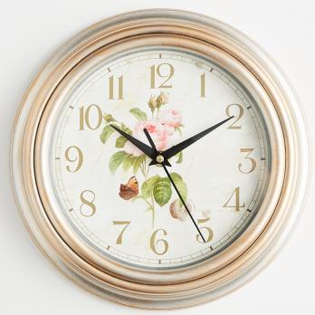 Часы настенные 26 см DT9-0001 патигированные, часы круглые розы