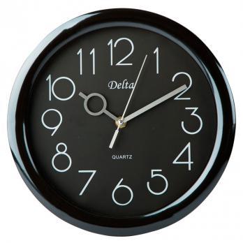 Часы настенные 28 см DT-0127 черные, часы офисные