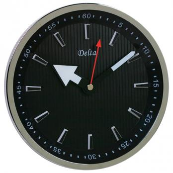 Стильные офисные часы, черные, круглые
