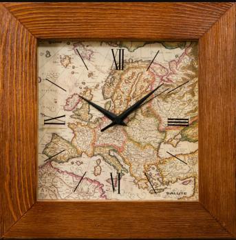 """Часы настенные """"Карта"""" элитные, настенные часы руководителю, дерево"""
