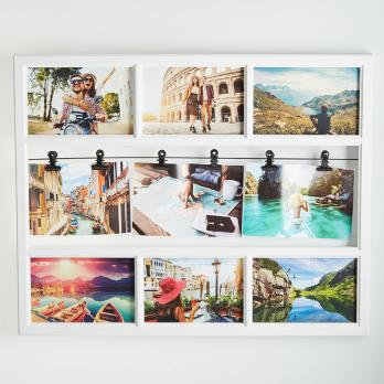 Фоторамка на 9 фотографий фотоколлаж